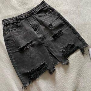 FOREVER 21 denim charcoal pencil skirt